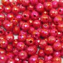 Beads, Acrylic, Burgandy, Spherical, Diameter 7mm, NA, 40 Beads, (SLZ0209)